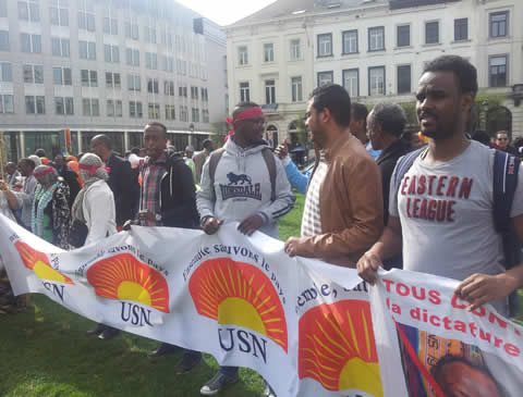 Djibouti USN manifestation à Bruxelles