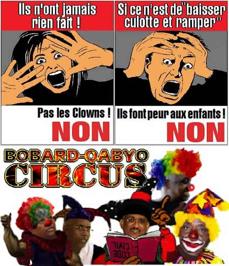 Le régime dictatorial devient un cirque