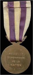 Médaille honneur et nation