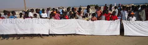 Manifestation pacifique de jeunes lycéens à Obock -Djiboiuti