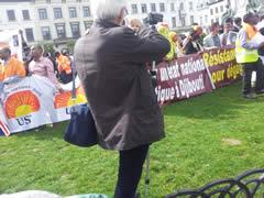 Manifestation djiboutienne à Bruxelles le 2 avril 2014