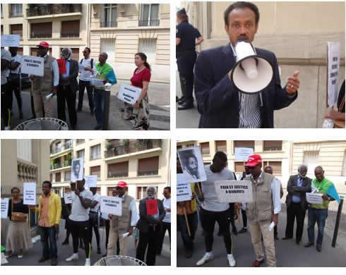 Manifestation à Paris contre la dictature à Djibouti