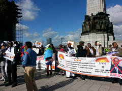 Manifestation Bruxelles contre Guelleh