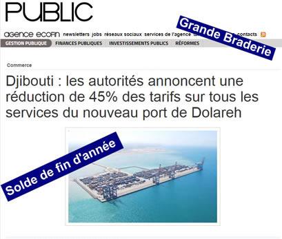 Guelleh brade les tarifs du nouveau port